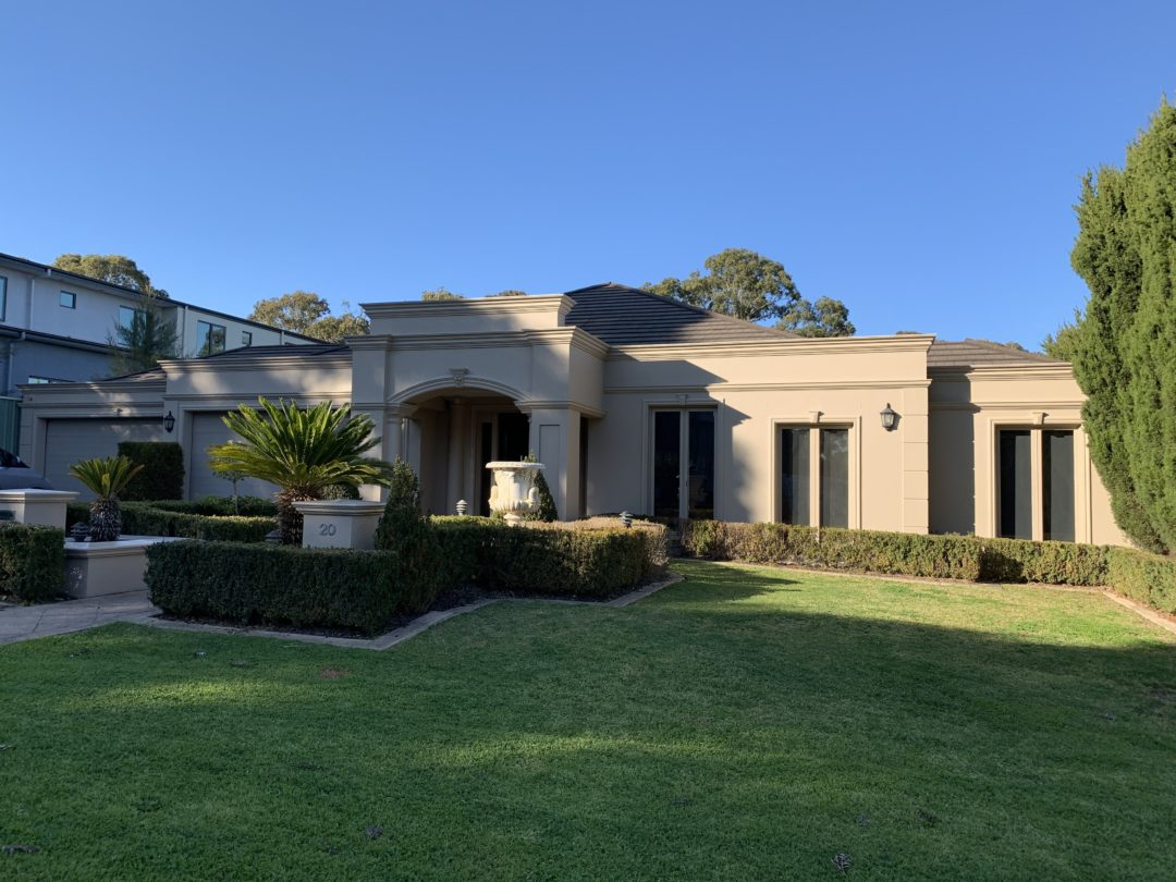 Exterior Repaint of a residential property in Plenty VIC