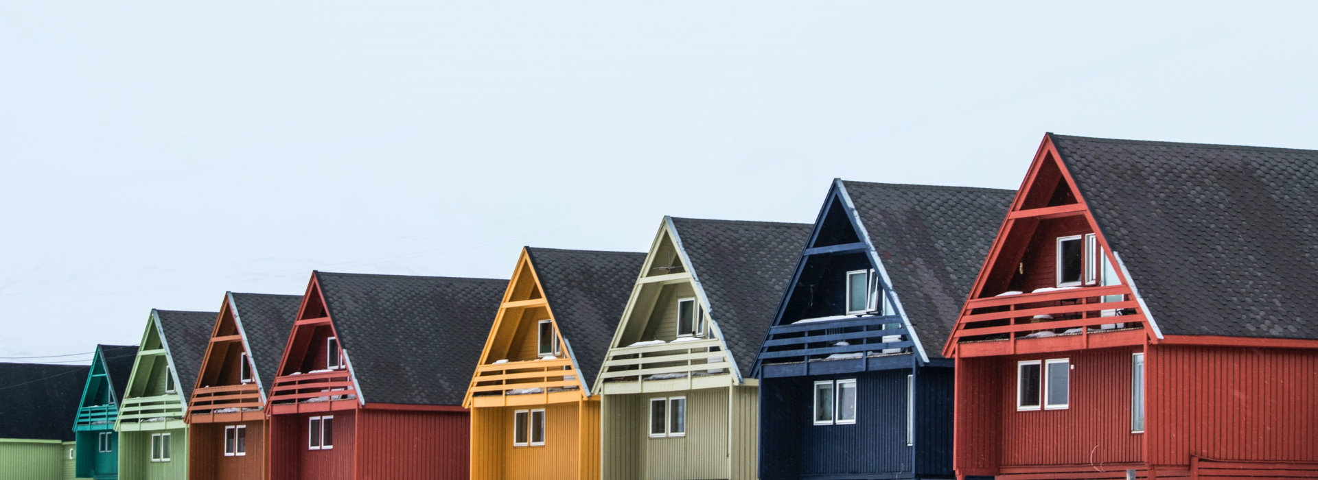 Colourful painted houses